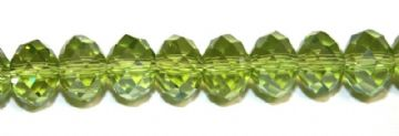 72pcs x 8mm Lime green faceted glass rondelle beads -- S.G06 -- 3005628